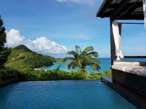 View from our romantic getaway in Antigua