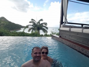 Our Private Plunge pool at Hermitage Bay
